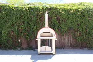 portable pizza oven cart