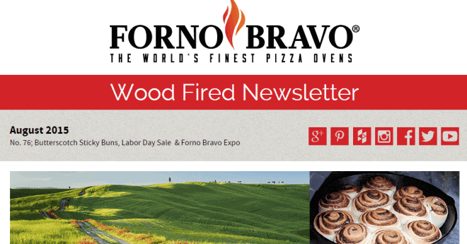 Forno Bravo Newsletter August 2015