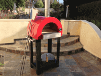 Nano C22 Portable Wood Fired Pizza Oven Cart - Red