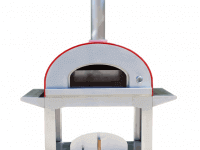 "Ultra 40"" Portable Wood Fired Pizza Oven Cart - Red"