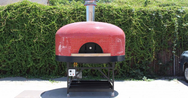 forno bravo commercial gas pizza oven custom tile