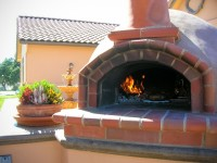 Premio Wood Fired Pizza Oven by Pool