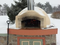 Pompeii DIY Brick Oven in Winter by Adam S in PA