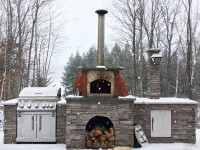 "Pompeii DIY Brick Oven in Winter - Canada ""Carmenere"""