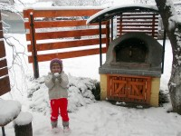 Pompeii DIY Brick Oven in Winter