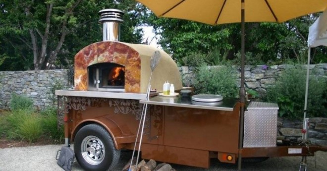 wood fired oven, wood fired oven trailer, wood fired pizza oven, wood fired pizza oven trailer, pizza trailer, pizza oven trailer, pizza oven outdoor