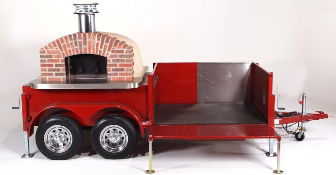 wood fired oven, wood fired oven trailer, wood fired pizza oven, wood fired pizza oven trailer, pizza trailer, pizza oven trailer, catering pizza oven, commercial pizza oven