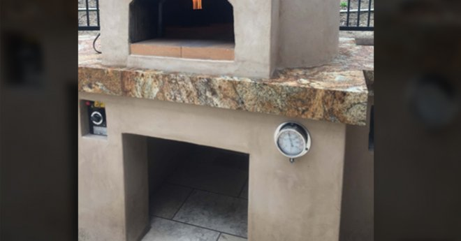 Casa Gas Pizza Oven with Cucina Stand
