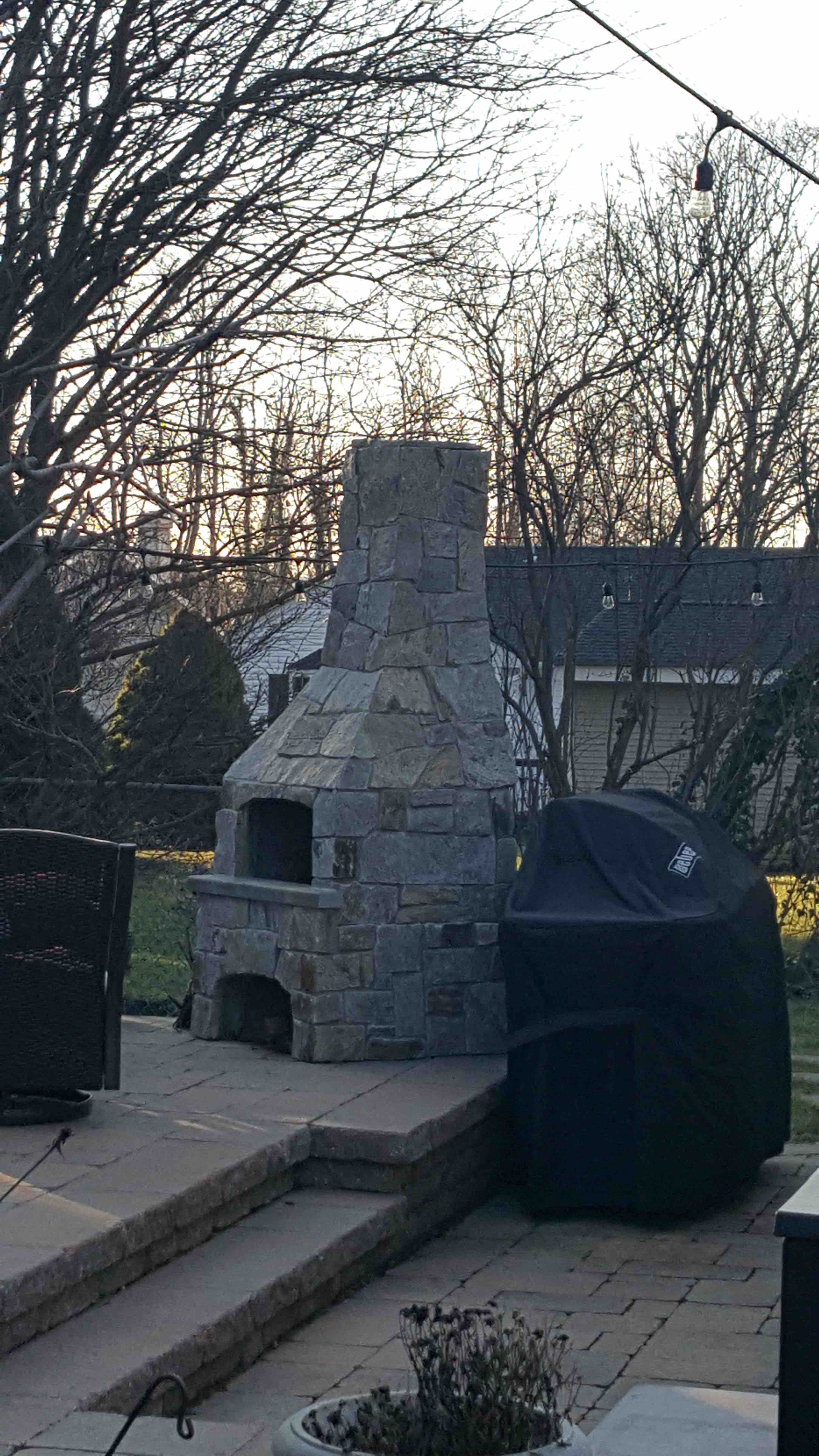 Outdoor Fireplace Installation : Outdoor fireplace kit forno bravo authentic wood fired