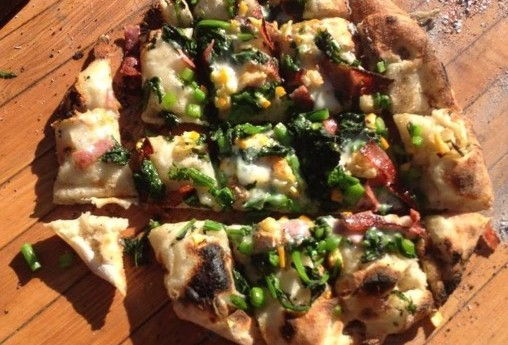 pizza, wood fired pizza, brigit binns, brigit binns recipe, bella outdoor living