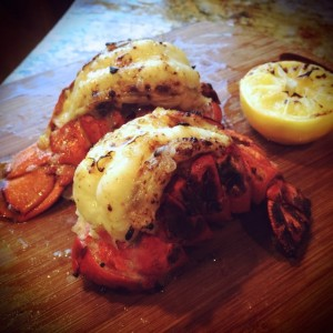 wood fired lobster