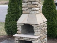 Fiamma Outdoor Fireplace by Forno Bravo Dealer The Arch NC