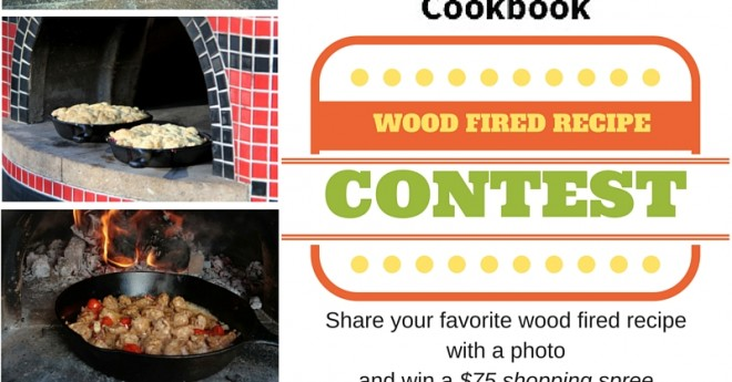 Forno Bravo Wood Fired Community Cookbook recipe contest announcement graphic.