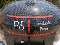 creekside pizza vevusio pizza oven logo