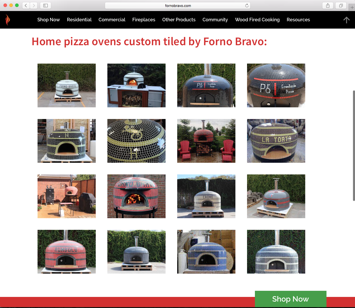 Custom Tiled Pizza Oven Forno Bravo Screen Shot