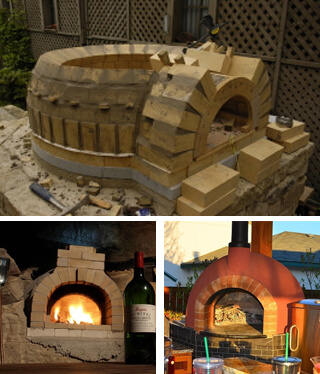 pizza oven Forno Bravo construction