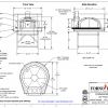 Professionale120 FA Commercial Pizza Oven Drawing