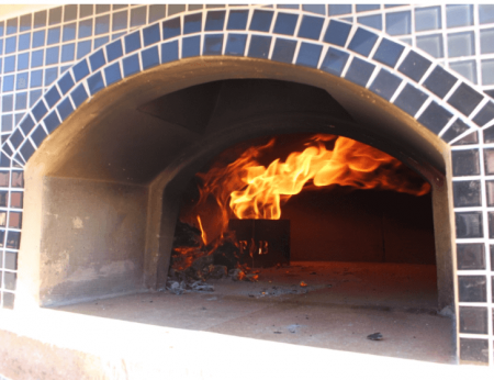 Vesuvio Gas / Wood Combination Pizza Oven Close Up