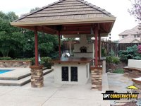 Casa 100 outdoor gas pizza oven build by GPT Construction