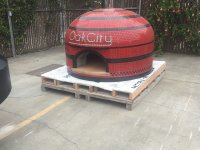 Napoli120 Commercial Pizza Oven Oak City Side