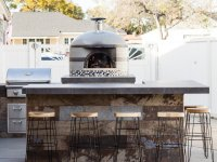 Custom tiled Napolino70 Outdoor Pizza Oven