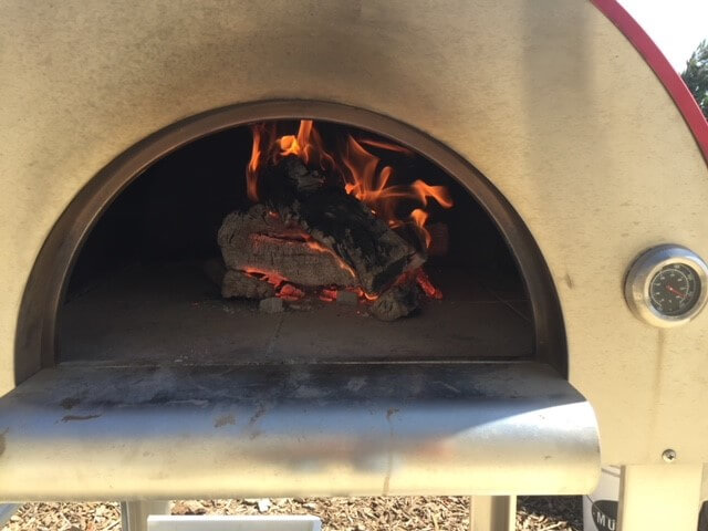 Wood Fire in a Bella Steel Oven