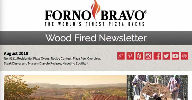 Wood Fired Newsletter August 2018 with header photos