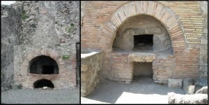 Two ancient brick ovens