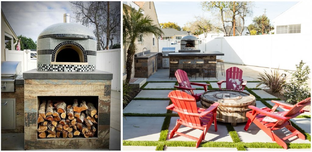 Bi-Pic - pizza oven and backyard seating