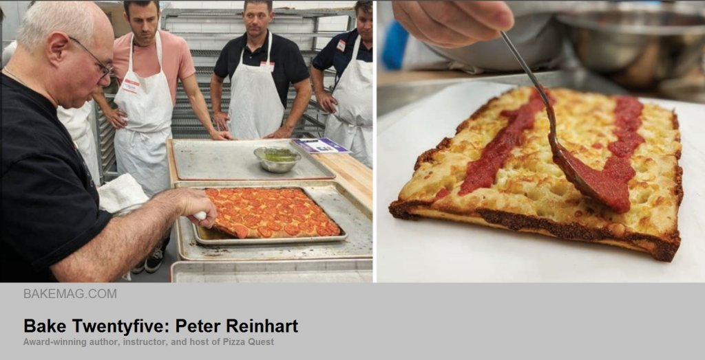 Peter Reinhart teaching a class - flatbread
