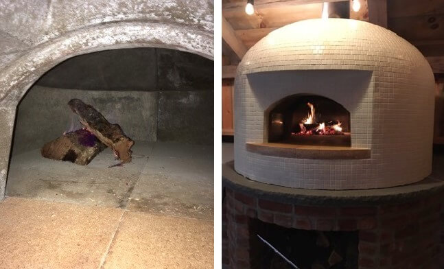 bi-pic pizza oven mouth-wood-small fire
