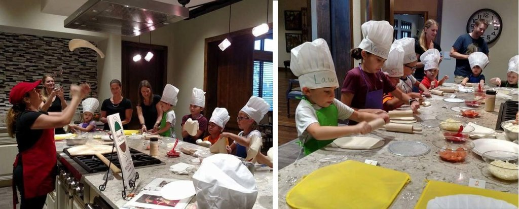 kids in chefs hats