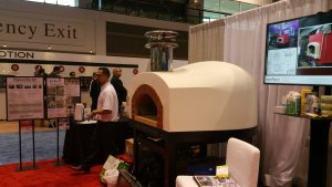 white pizza oven