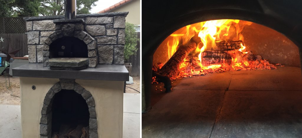 casa wood fired pizza oven-fire in oven