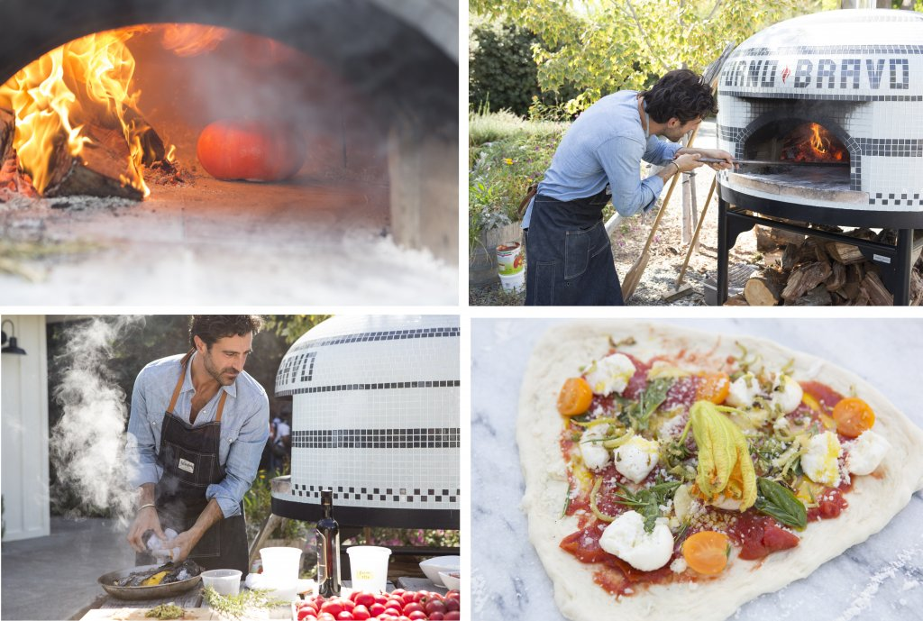 4-pic of chef cooking in wood fired oven