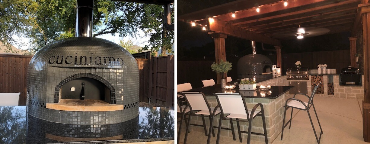 Bipic-Tiled pizza oven-outdoor kitchen