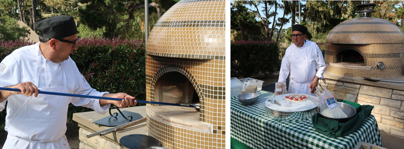Chef-pizza oven