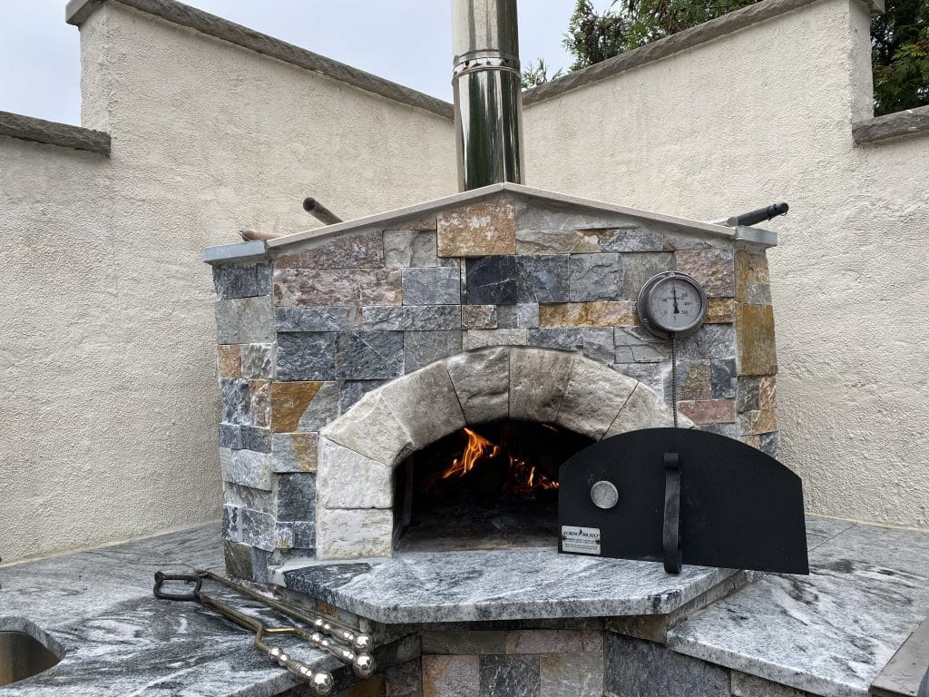 Wood Fired Oven-stone enclosure