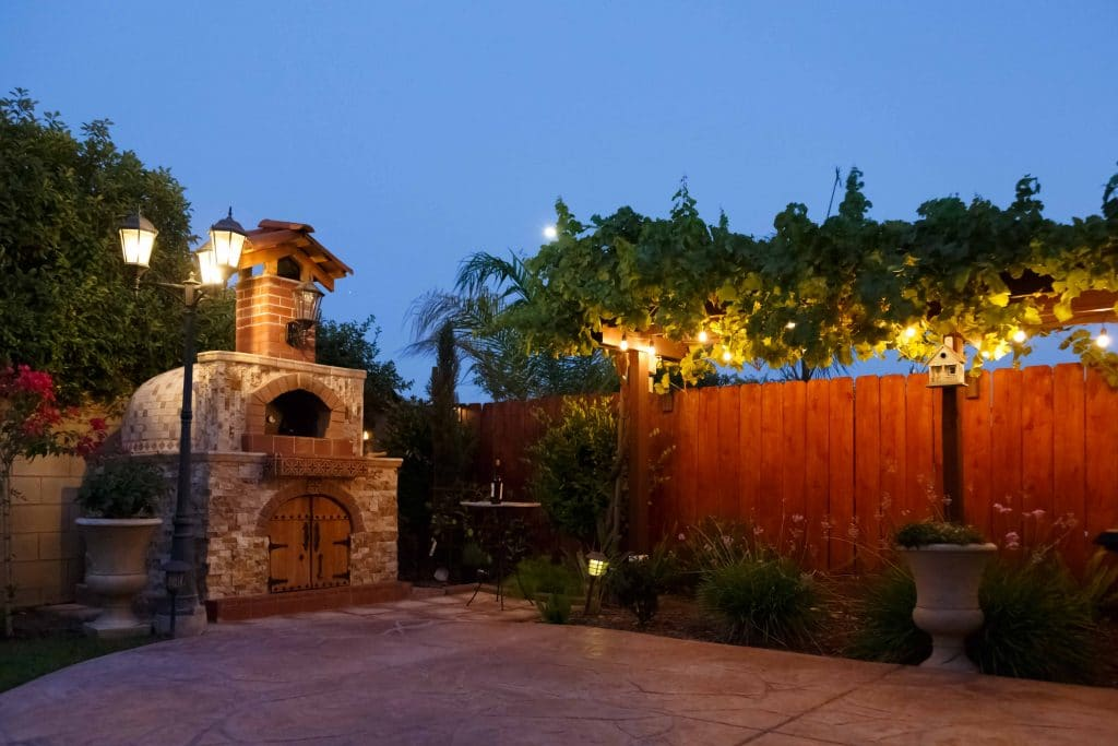 pizza oven-arbor-fence
