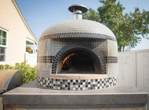 black and white tiled-Napolino wood fired oven