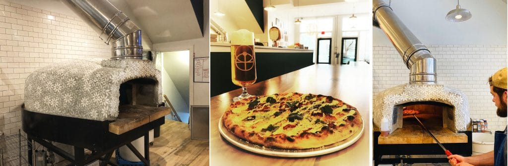 tri-pic 2 ovens with marble flowers-pizza and beer